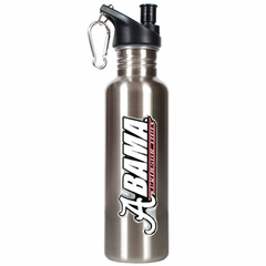 Alabama 26oz Stainless Steel Water Bottle (Silver)