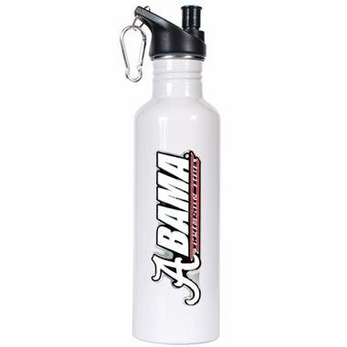 Alabama 26oz Stainless Steel Water Bottle (White)