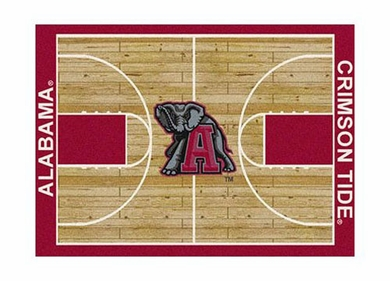 "Alabama 3'10"" x 5'4"" Premium Court Rug"