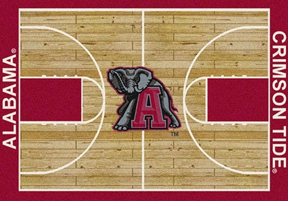 "Alabama 7'8"" x 10'9"" Premium Court Rug"