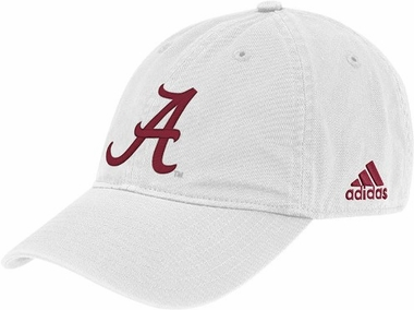 Alabama Adidas Adjustable Slouch Hat (White)