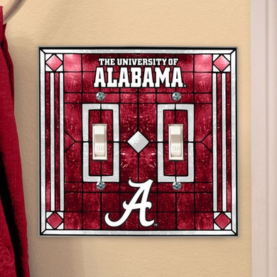 Alabama Alabama Art Glass Lightswitch Cover (Double)