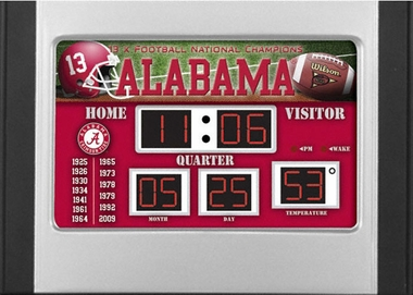 Alabama Alarm Clock Desk Scoreboard