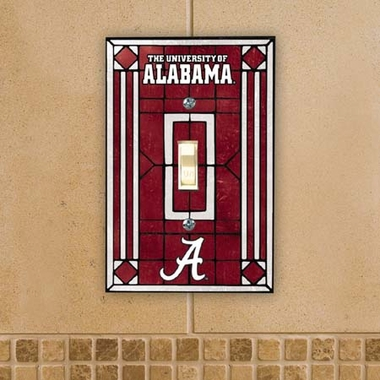 Alabama Art Glass Lightswitch Cover