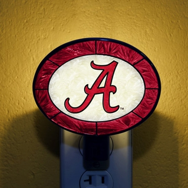 Alabama Art Glass Night Light