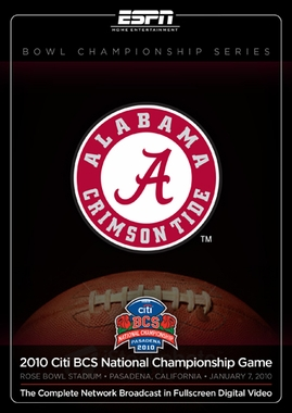 Alabama BCS Champs DVD (2009)