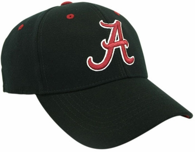 Alabama Black Premium FlexFit Baseball Hat