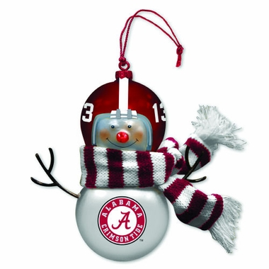 Alabama Blown Glass Snowman Ornament (Set of 2)