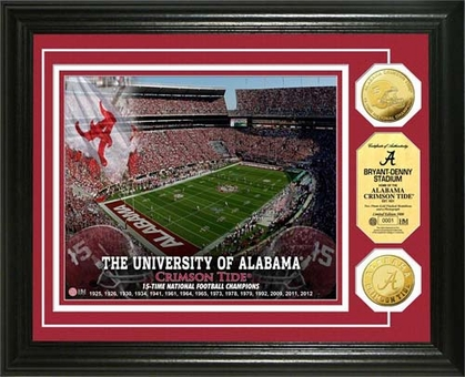 Alabama Crimson Tide University of Alabama Stadium Gold Coin Photo Mint