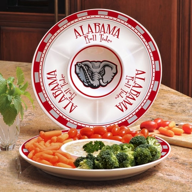 Alabama Ceramic Chip and Dip Plate