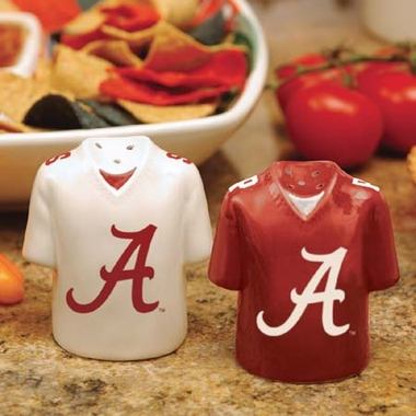 Alabama Ceramic Jersey Salt and Pepper Shakers