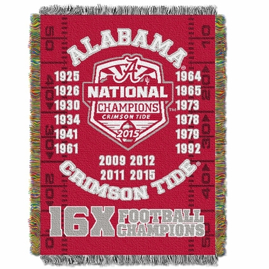 Alabama Commerative Jacquard Woven Blanket