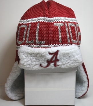 "Alabama Crimson Tide 47 Brand ""Yeti"" Sherpa Red Knit Trooper Premium Hat"