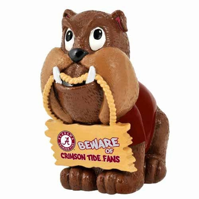 Alabama Crimson Tide Bulldog Holding Sign Figurine