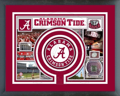 Alabama Crimson Tide Framed Milestones & Memories