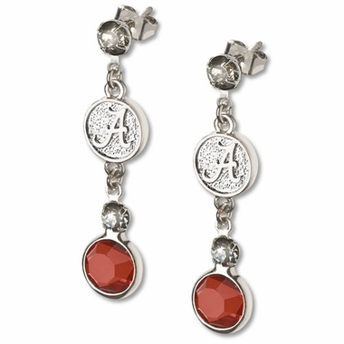 Alabama Crystal Logo Dangle Earrings