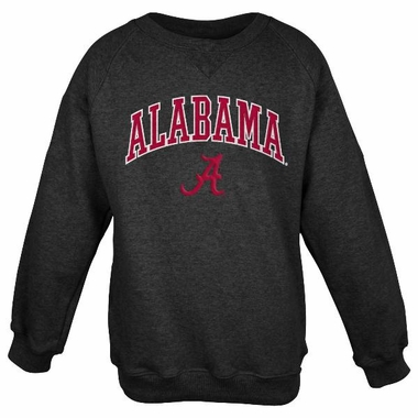 Alabama Embroidered Crew Sweatshirt (Black)