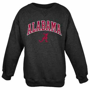 Alabama Embroidered Crew Sweatshirt (Black) - Large