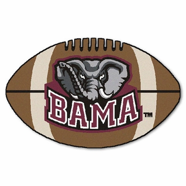 Alabama Football Shaped Rug