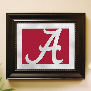 Alabama Framed Laser Cut Metal Wall Art