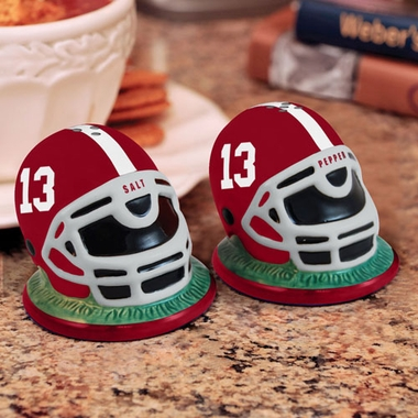 Alabama Helmet Ceramic Salt and Pepper Shakers