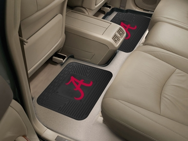 Alabama SET OF 2 Heavy Duty Vinyl Rear Car Mats