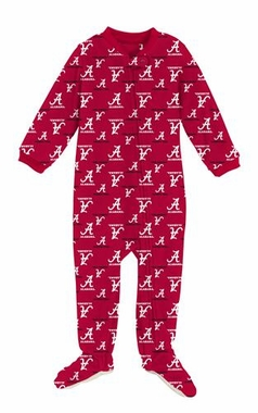 Alabama Infant Footed Full Zip Raglan Coverall Sleeper