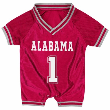 Alabama Infant Pounce Football Jersey Onesie