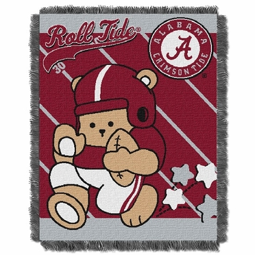 Alabama Jacquard BABY Throw Blanket