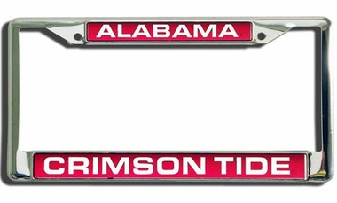 Alabama Laser Etched Chrome License Plate Frame