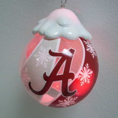 Alabama Light Up Glass Ball Ornament