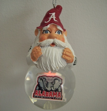 Alabama Light Up Gnome Snow Globe Ornament