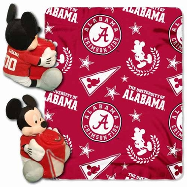 Alabama Mickey Mouse Pillow / Throw Combo