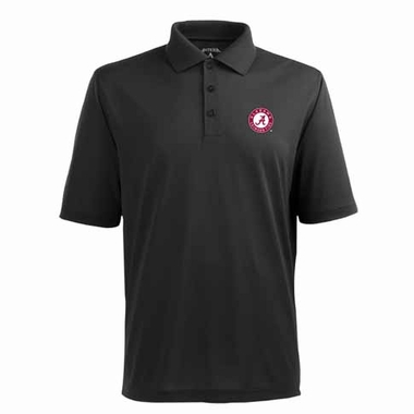 Alabama Mens Pique Xtra Lite Polo Shirt (Color: Black)