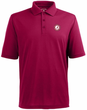 Alabama Mens Pique Xtra Lite Polo Shirt (Team Color: Maroon)