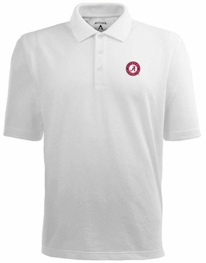 Alabama Mens Pique Xtra Lite Polo Shirt (Color: White)