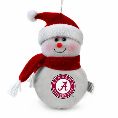 Alabama Plush Snowman Ornament (Set of 3)