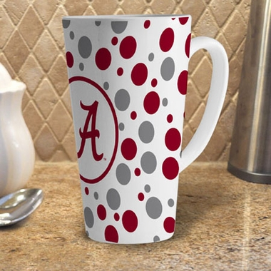 Alabama Polkadot 16 oz. Ceramic Latte Mug