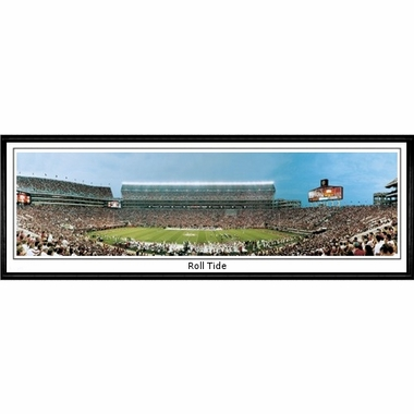 Alabama Roll Tide Framed Panoramic Print