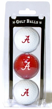 Alabama Set of 3 Multicolor Golf Balls