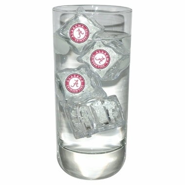 Alabama Set of 4 Light Up Ice Cubes