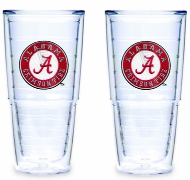 "Alabama Set of TWO 24 oz. ""Big T"" Tervis Tumblers"