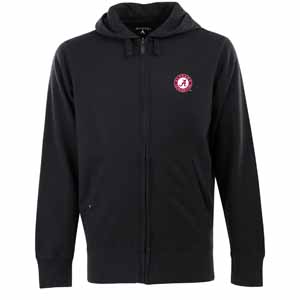 Alabama Mens Signature Full Zip Hooded Sweatshirt (Alternate Color: Black) - Large