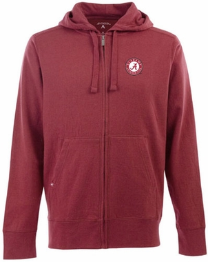 Alabama Mens Signature Full Zip Hooded Sweatshirt (Team Color: Maroon)