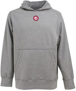 Alabama Mens Signature Hooded Sweatshirt (Color: Gray) - Large