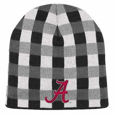 Alabama Soul Plaid Cuffless Knit Beanie Hat