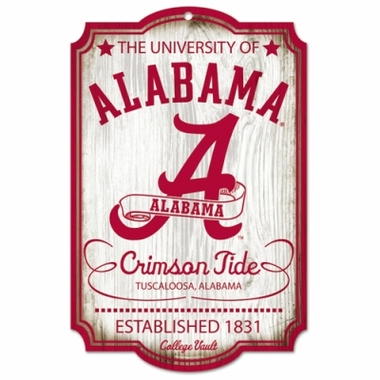 Alabama Throwback Wood Sign