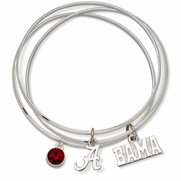 Alabama Triple Bangle Bracelet