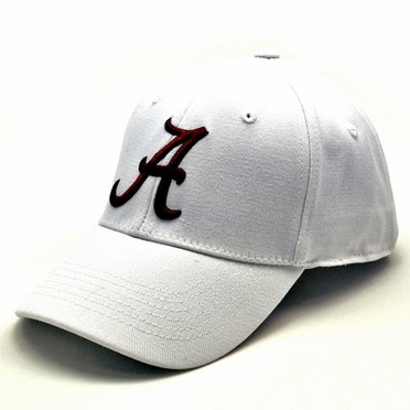 Alabama White Premium FlexFit Baseball Hat