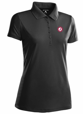 Alabama Womens Pique Xtra Lite Polo Shirt (Team Color: Black)